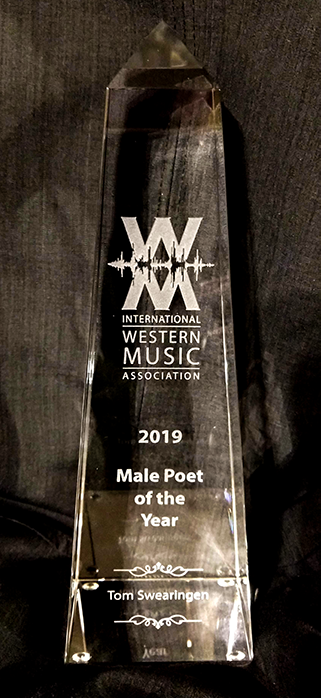 2019 International Western Music Association Male Poet of the Year.